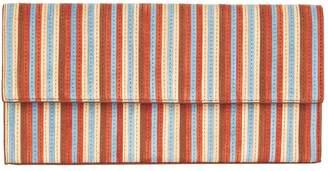 Diane von Furstenberg East West Striped Clutch bag