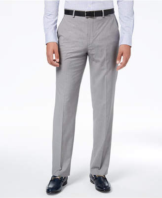 Sean John Men's Classic-Fit Stretch Gray Stripe Suit Pants