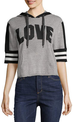 INSPIRED HEARTS Elbow Sleeve Varsity Love Sweatshirt-Juniors
