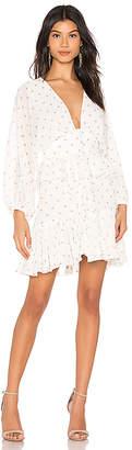 Shona Joy Sophia Plunged Ruffle Mini Dress