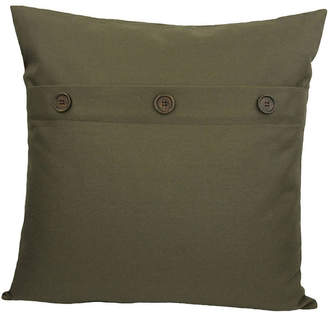 """Manor Luxe Buttons Solid Color Pillow Collection, 20"""" x 20"""""""