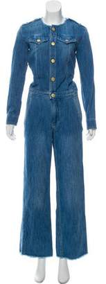 Etoile Isabel Marant Long Sleeve Denim Jumpsuit