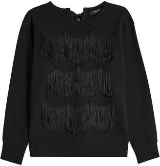 Lace And Taffeta-trimmed Cotton-jersey Sweatshirt - Black Marc Jacobs 5BPhZuA8