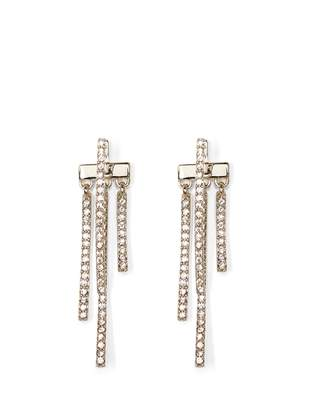 Vince Camuto Silvertone Pave Drop-back Earrings