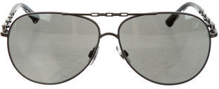 Swarovski Cookie Aviator Sunglasses $145 thestylecure.com