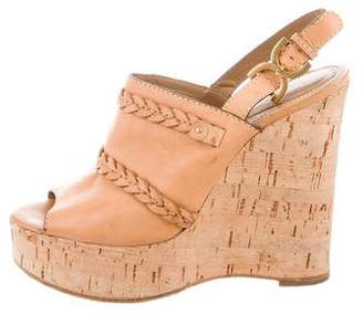 Chloé Slingback Wedge Sandals