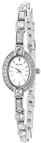 Bulova Women's 96T49 Crystal Pendant and Bracelet Set White Dial Watch