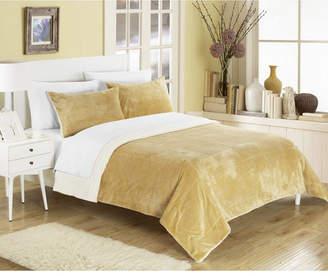Chic Home Evie 7-Pc King Sherpa Blanket Bedding Set Bedding