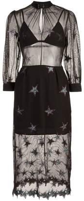 Fleur Du Mal Superstar layered mesh dress