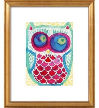 Watercolor Owl Art Print, Artfully Walls