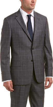 Hickey Freeman 2Pc Milburn Ii Wool Suit With Flat Pant