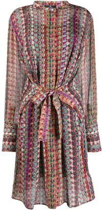 Paul Smith geometric print shirt dress
