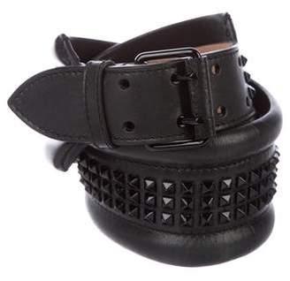 Alexander McQueen Spiked Leather Belt