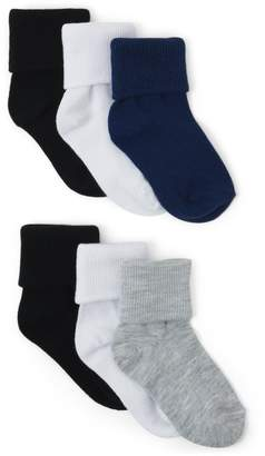 Crazy 8 Crazy8 Fold-Over Socks 6-Pack