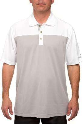 Equipment Men's Pebble Beach Classic-Fit Birdseye Colorblock Pique Performance Golf Polo