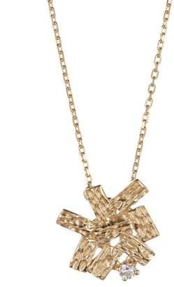 Suzanne Kalan 14K White Gold Diamond Bezel Framed Pear Opal Pendant Necklace