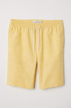 H&M Knee-length Cotton Shorts - Yellow