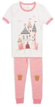 Petit Lem Little Girl's Two-Piece Graphic Cotton Pajama Set
