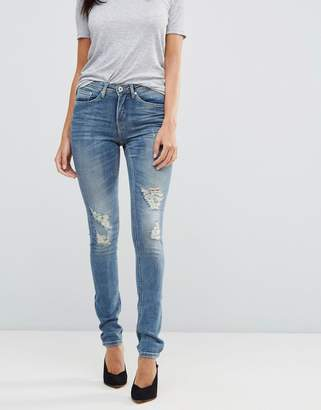 Blend She Casual Stacey Straight Ripped Jeans