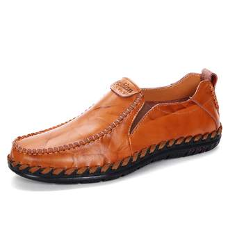 c1dc397e896 Vitike Mens Leather Shoes Slip On Loafers Shoes Leisure Driving Moccasins  Shoes (US-8.5