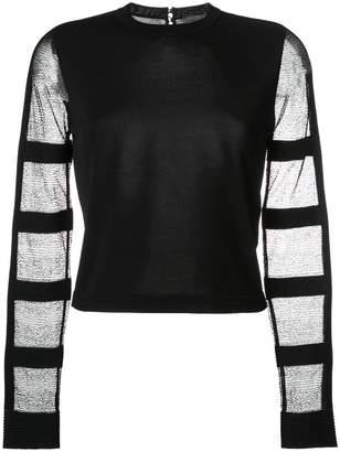 Alexander McQueen sheer sleeve blouse