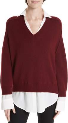 Brochu Walker Wool & Cashmere Layered Pullover