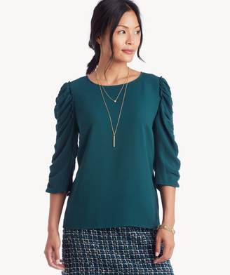 Sole Society L/S Ruched Sleeve Blouse