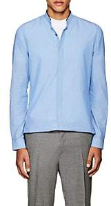 Lanvin MEN'S PINSTRIPED COTTON SEERSUCKER SHIRT-BLUE SIZE 39