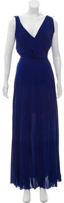 Cédric Charlier Pleated Maxi Dress w/ Tags
