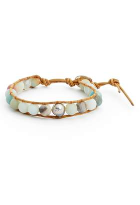 Chan Luu Stone & Pearl Leather Bracelet