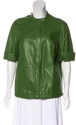 Akris Short Sleeve Leather Jacket