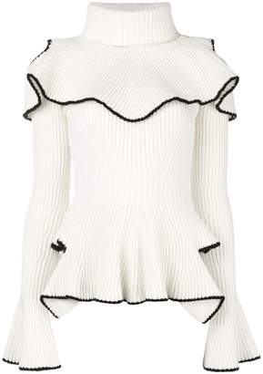 Alexander McQueen ruffled turtleneck knit