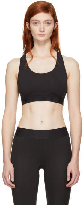 Black Styling Complements Sports Bra