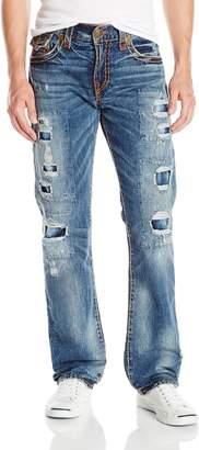 True Religion Men's Ricky Relaxed Straight Leg Rip & Repair Super T Jean