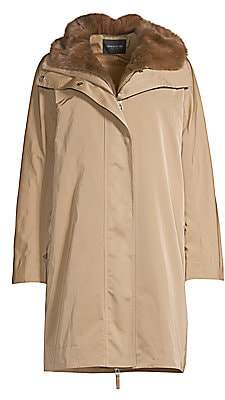 Lafayette 148 New York Women's Sinclair Fur-Lined Hooded Coat