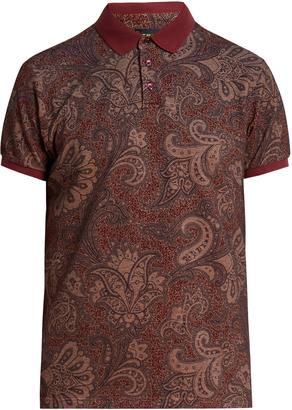 ETRO Paisley cotton-piqué polo shirt $265 thestylecure.com