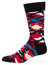 Men's Camo Print Socks