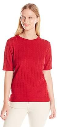 Alfred Dunner Alf Dunner Women's Missy Short Sleeve Sweater Shell