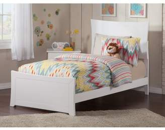 Atlantic Furniture Metro Twin XL Traditional Bed with Matching Foot Board, Multiple Colors and Sizes
