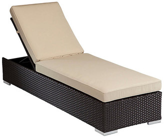 One Kings Lane Solana Outdoor Chaise Lounge - Ivory Sunbrella
