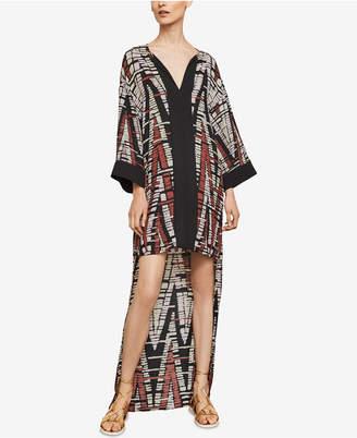 BCBGMAXAZRIA Printed High-Low Dress
