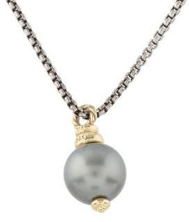 David Yurman Pearl Drop Pendant Necklace