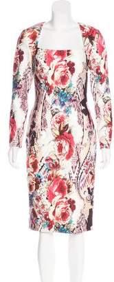 Jovani Abstract Print Midi Dress
