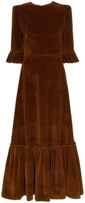 DAY Birger et Mikkelsen The Vampire's Wife Ruffle-detail corduroy dress