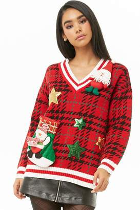 Forever 21 Plaid Holiday Sweater