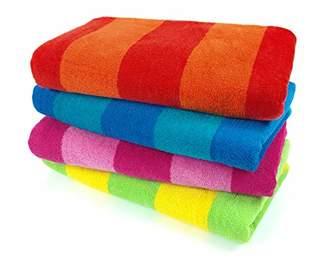 Kaufman Sales 4 Pc Pack Stripe Beach Towel by Ben Kaufman Sales