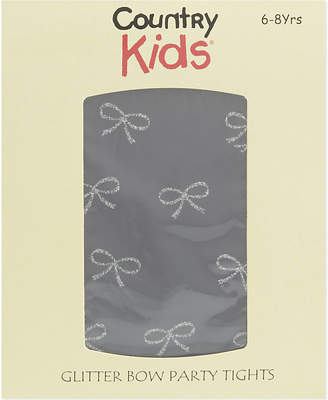 Country Kids Lurex bow tights 1-11 years