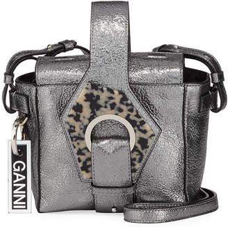 Ganni Metallic Square Bucket Bag
