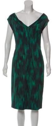 Michael Kors Abstract-Printed Midi Dress Abstract-Printed Midi Dress