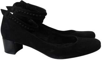 Karine Arabian Black Leather Heels